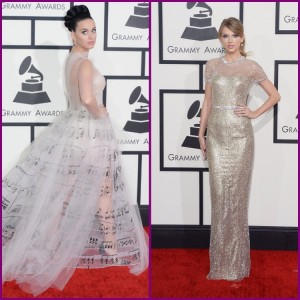 Kattie Perry in Valentino & Taylor Swift in Guggi