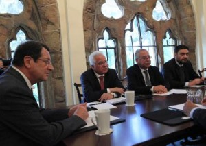 President Anastasiades during a Cabinet meeting