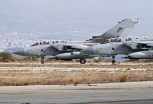 RAF Tornado Jets Fly Ready for Attack Role Over Iraq