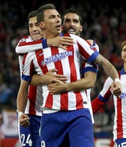 Atletico Madrid's Croat striker Mario Mandzukic