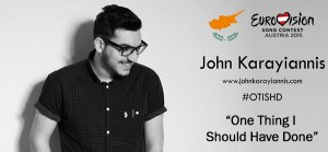 John Karayiannis battles in the Eurovision Semi-Final with his lovely melody track...